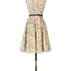 Free People Floral Velvet Off Shoulder Dress